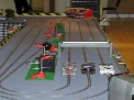Compact Scalextric circuit for exhibitions