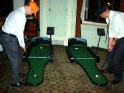 Golf putting simulator for exhibition stands